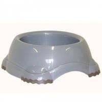 Миска для собак МОДЕРНА СМАРТИ №2 (Moderna) пластик, 735мл, d-16 см (цвет светло-серый)