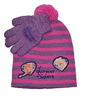 Шапка и перчатки девочке Холодное сердце