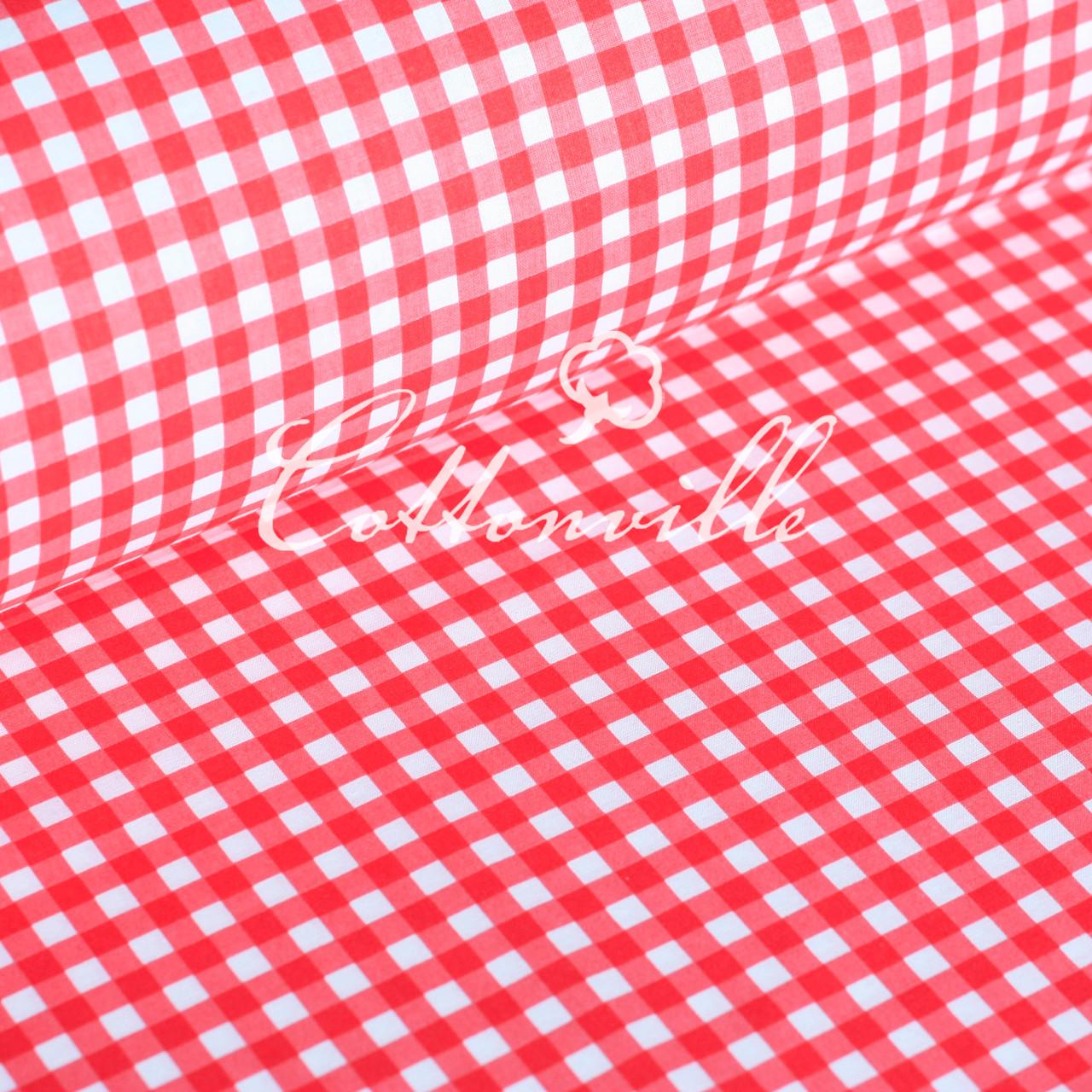 Польская бязь Клетка красная 8 мм