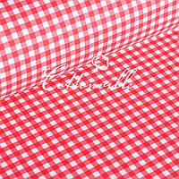 ✁ Відрізи польської бязі Клітинка червона 8 мм
