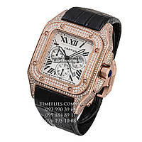 "Cartier №37 ""Santos 100 Full Pave"" AAA copy"