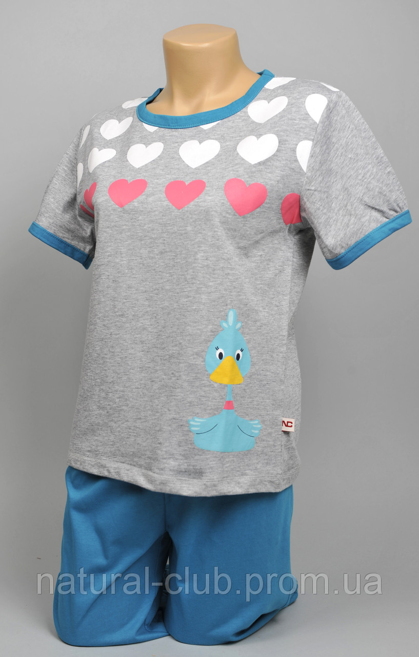 Пижама для девочек (котик) 4 шт