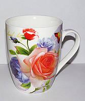 Чашка Троянда 335 мл Interos (фарфор)