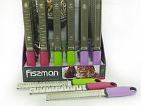 Терка плоская из нержавеющей стали на ручке 32x3см - 3 вида лезвий Fissman (PR-7195.GR)