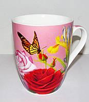 Чашка Роза 335 мл Interos (фарфор)