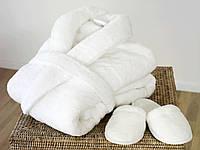 Махровый халат белый плотный 450 г/м2