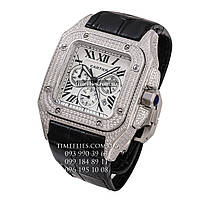 "Cartier №38 ""Santos 100 Full Pave"" AAA copy"