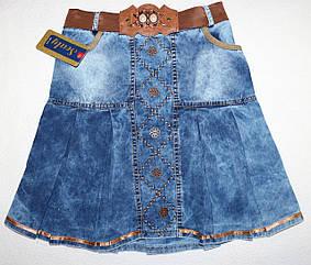 Джинсовая юбка на девочку 9,10,11,12 лет