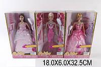 Кукла типа Барби LH040 1532109 60шт2 3 вида, в вечер. платье с расческой в кор.18632,5см
