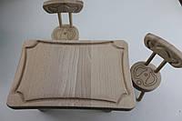Меблі для ляльки  з масиву бука стіл2 стільці 12шт стіл-261814