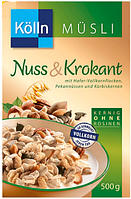 Kölln Müsli Nuss & Krokant - Мюсли с орехами и грильяжем, 500 г