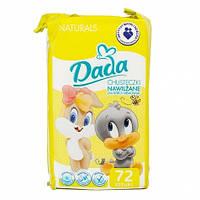 Детские влажные салфетки Dada Naturals, 72 шт.