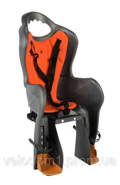 Сиденье для детей LONGUS BASELI Standard на раму 22кг, серый/красный