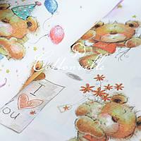 Хлопковая ткань Мишки Teddy