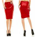 Оптом и розница  юбка с экокожы , фото 2