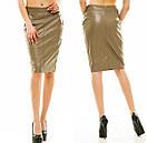 Оптом и розница  юбка с экокожы , фото 3