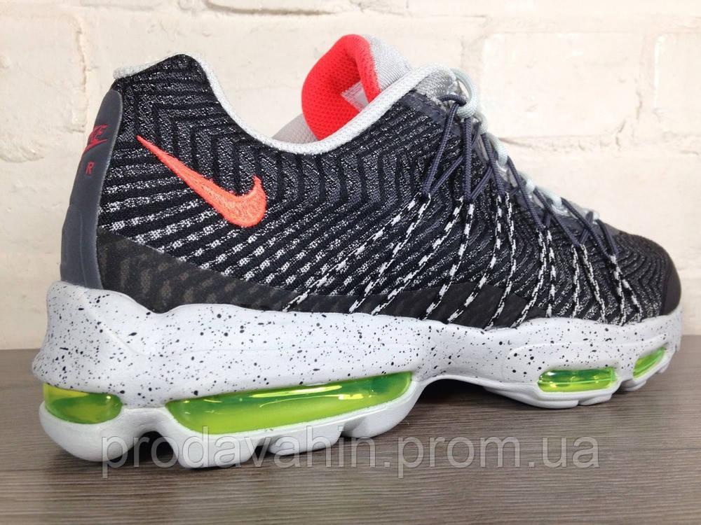 Кроссовки мужские Nike air max Jacquard black-grey 95. найк аир макс,  магазин e9940c72c05