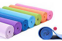 Коврик для фитнеса и йоги Yoga Mat. 4 mm ( 1.73*0.61*4mm) разные цвета в ассортименте