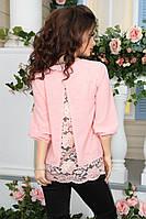 Очаровательная  нарядная блуза из креп-шифона и кружева