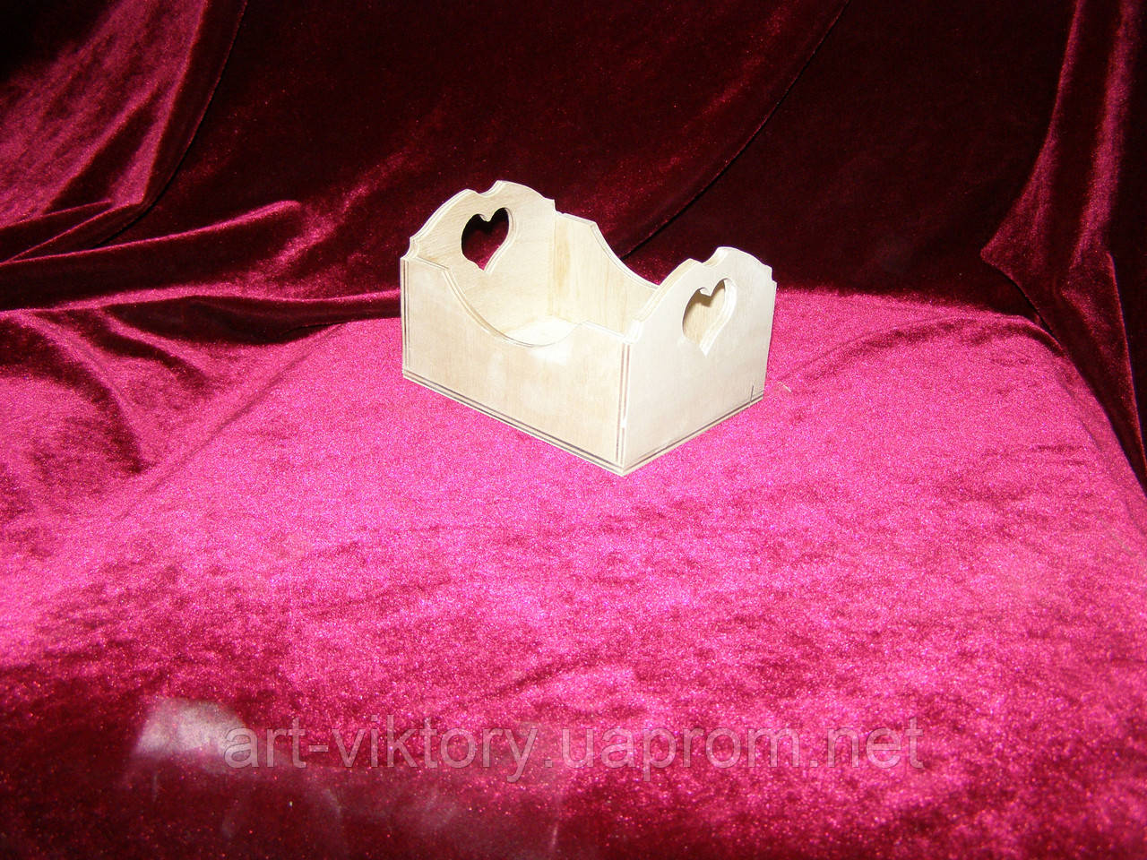 Короб с сердечком (9,5 х 12,5 х 8 см)