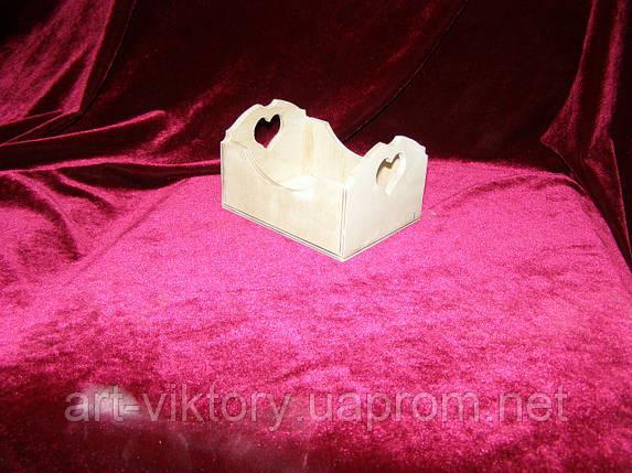 Короб с сердечком (9,5 х 12,5 х 8 см), фото 2