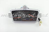 Панель приборов (в сборе) Suzuki ADDRESS (120км/ч, черная, датчик уровня топлива) (mod:MY-122)