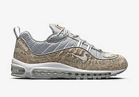 Кроссовки мужские  Nike x supreme  air max 98 Snakeskin beige. аир макс, обувь интернет