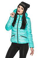 Классическая стеганная женская куртка весна-осень 44-54 размера