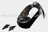 """Пластик VIPER STORM 2007 передний (подклювник) (черный) """"KOMATCU"""""""