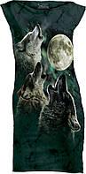 Женское мини платье Mountain - THREE WOLF MOON