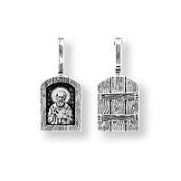 Образок серебряный Святитель Николай Чудотворец 8601