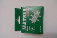 Splitter 4-way Germany + 5 шт. F-разъёмов MATRIX в картонной упаковке