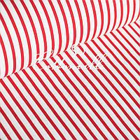 Бязь Полоски 6/10 мм красные, фото 1