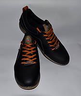 Мужские кожаные спортивные туфли SPLINTER черные