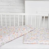 """Сменный комплект для новорожденного в кроватку """"Веселый зоопарк"""" Еlfdreams"""