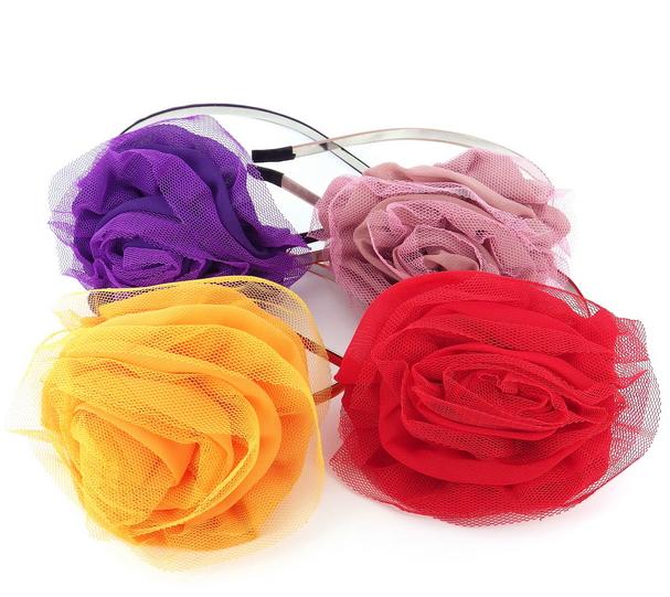 "Обручи для волос ""Цветы"" (Код: obruch_cvety-071)"