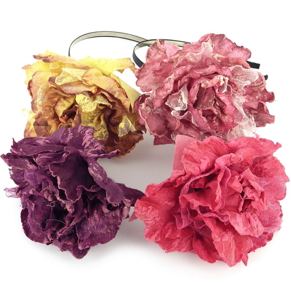 "Обручи для волос ""Цветы"" (Код: obruch_cvety-072)"