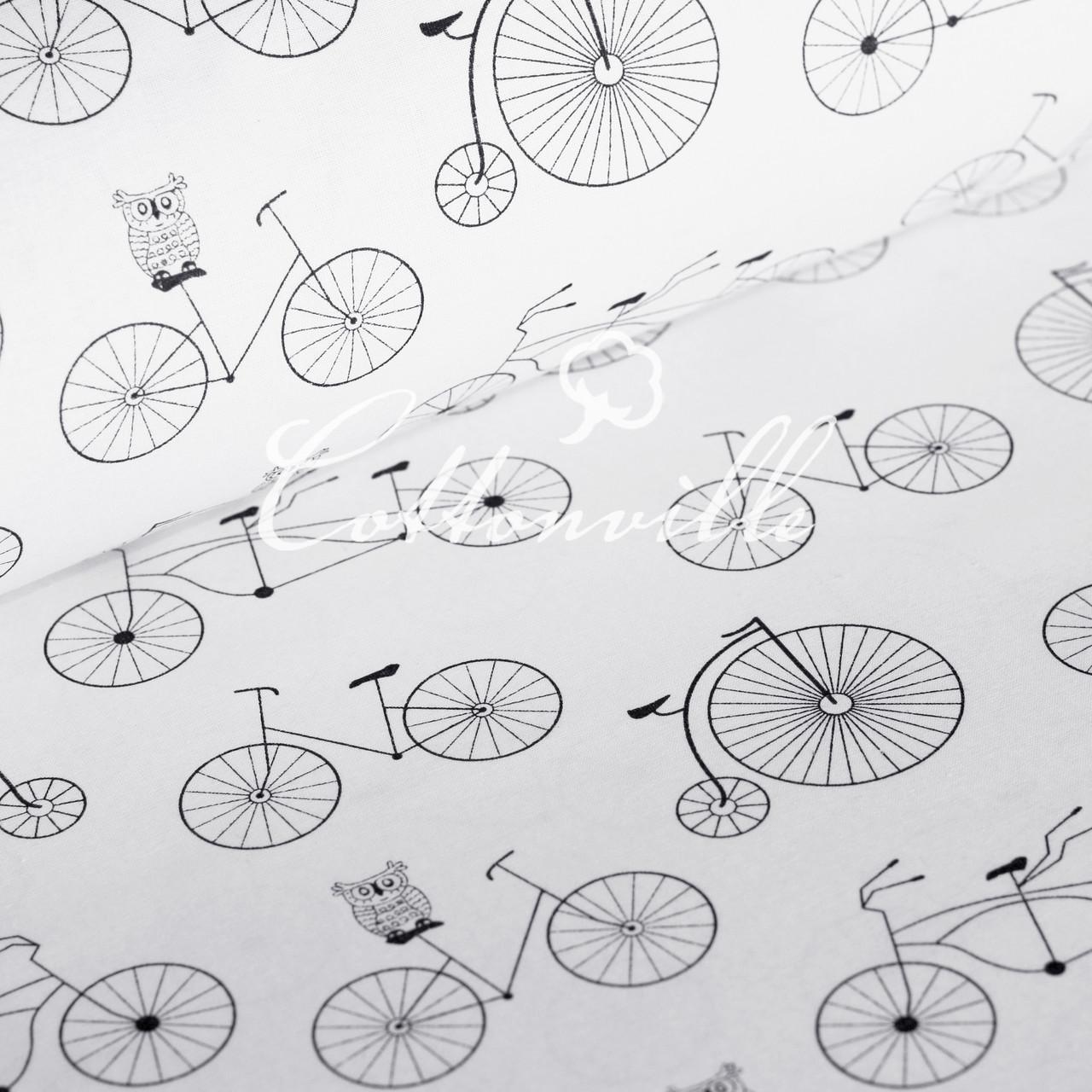 Польская бязь Совушки на велосипедах