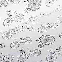 Польская бязь Совушки на велосипедах, фото 1