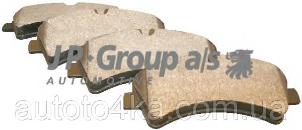 Колодки тормозные дисковые задние (комплект) JP Group 1163705710
