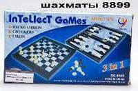 Шахматы 3в1 пласмас 32*18*5см MC 1178/8899