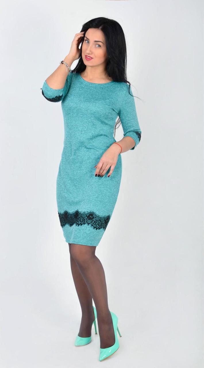 951e488544b Купить Нежное платье свободного кроя с отделкой кружевом в ...