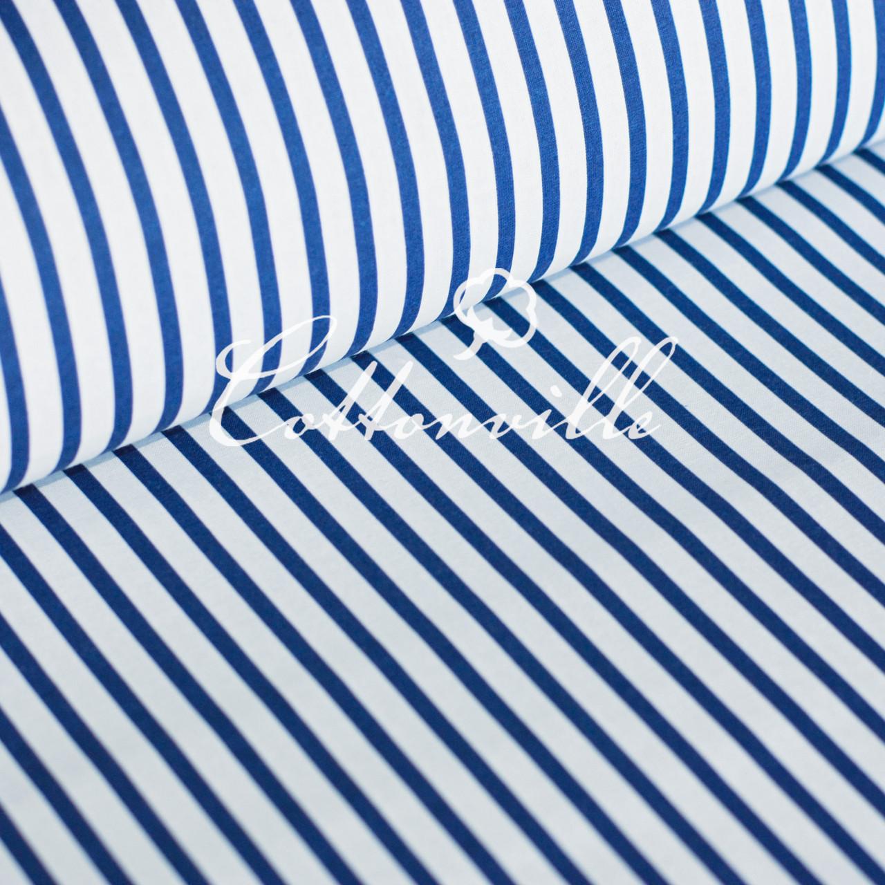 ✁ Відрізи тканини Полоски 6/10 мм сині