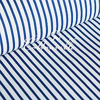 ✁ Отрезы бязи Полоски 6/10 мм синие , фото 1