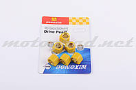 "Ролики вариатора (тюнинг) Suzuki 17*12 11,0г ""DONGXIN"" (желтые)"