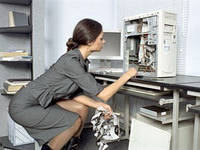 Обслуживание компьютерных сетей, оргтехники. Администрирование 1C