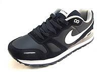Кроссовки мужские  Nike кожаные, синие (найк)(р.41,44,45,46)