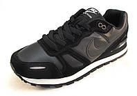 Кроссовки мужские  Nike кожаные, черные (найк)(р.41,42,43,44,45,46)