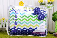 Комплект детского постельного белья Зигзаги цветные и якорьки