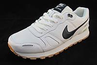 Кроссовки мужские  Nike кожаные, белые (найк)(р.42,43,44,45,46)